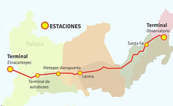 MexicoToluca The Train That Budget Cuts Have Not Stopped - Toluca map