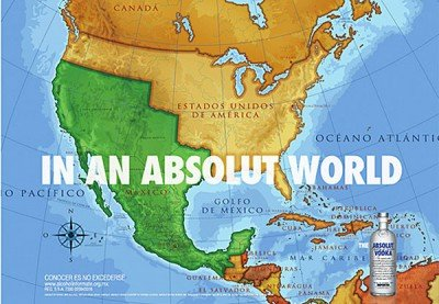absolut vodka mexico map