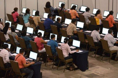 Teachers in first-ever evaluation test.