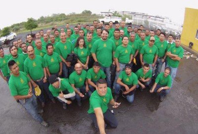 Jalisco firefighters' selfie: Off to Canada.