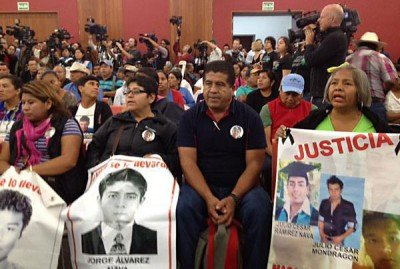Relatives of the missing students of Ayotzinapa