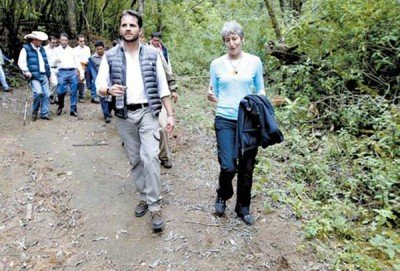 Pacchiano and Jewell at the butterfly reserve this week
