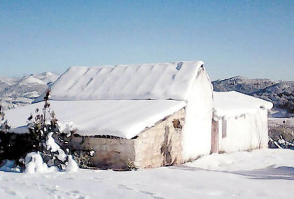 Galeana, Nuevo León, where roofs have been collapsing under the snow.