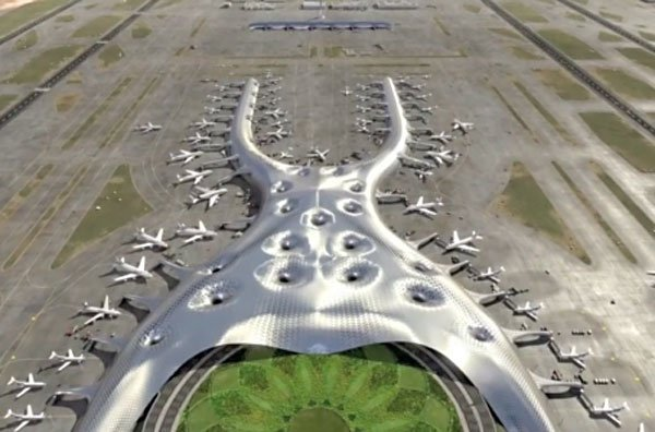 Artist's conception of the new airport.