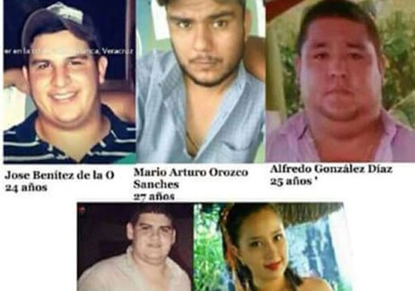 The five who have been missing since Monday.