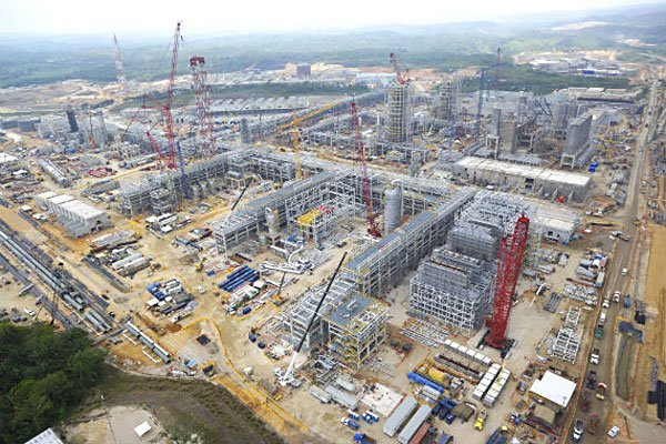 New petrochemical plant Latin America's largest.