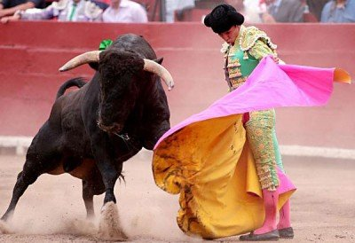 A bullfight in Mexico