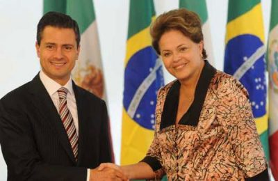 Peña Nieto and Rousseff: unpopular leaders.