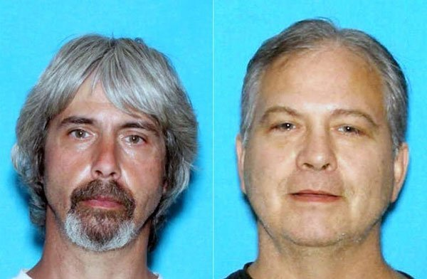 Fugitives Tony Reed, left, and his brother John are believed to be in Mexico.