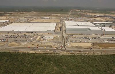 Kia's plant during construction last year.