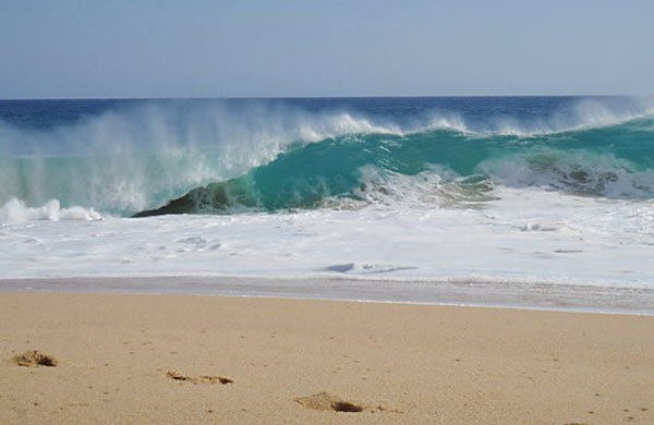 A beach in Cabo San Lucas: waves can be dangerous.