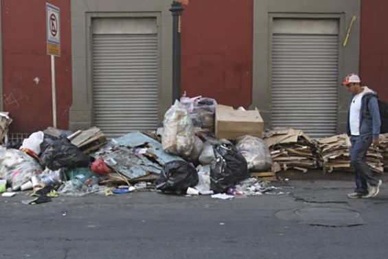 Garbage in Mexico City.