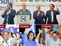 PAN celebrates: Anaya, top and second from left; and below, Yunes in Veracruz, Cabeza de Vaca in Tamaulipas and Corral in Chihuahua.