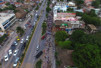 A march for peace took place Sunday in Tulum