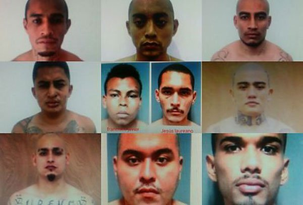 The inmates who escaped from a Cancún jail this morning.