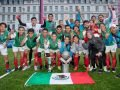 Mexico's winning teams in Glasgow.