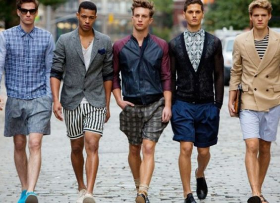 Men in shorts: offensive to some