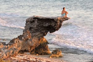A peaceful perch on an Isla Mujeres beach.