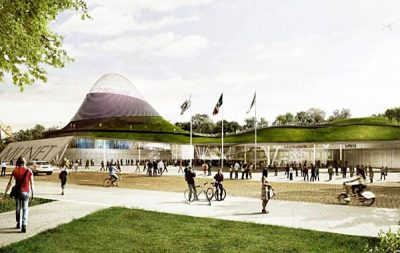 Artist's rendering of CFE's proposed museum.