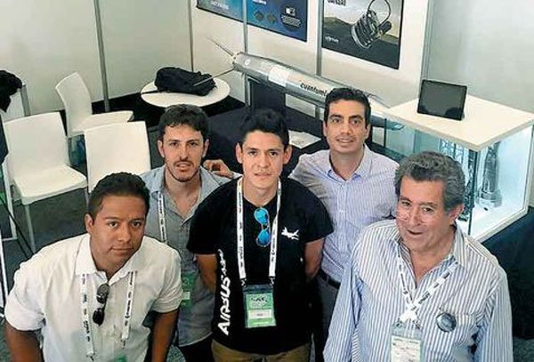 The team behind Mexico's new rocket.