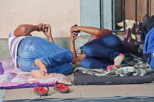 Teachers have been camping in the Oaxaca city zócalo for 83 days.