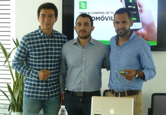 Zenzzer founders, from left, Sánchez, Silvente and Cruz.