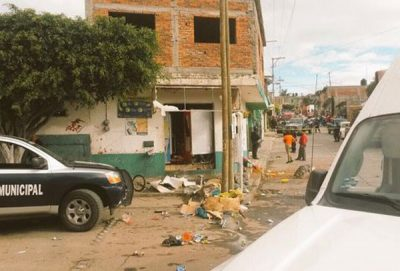 Damage caused today by explosions in Abasolo.