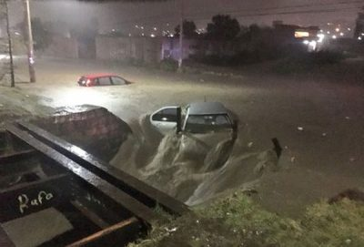 Flooding in Durango last night.
