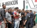 African migrants at an immigration office. milenio