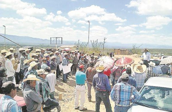 Mine protesters in Zacatecas.
