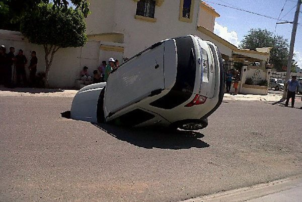 Pothole insurance: if this happens, you're out of luck. The pothole program doesn't cover sinkholes.