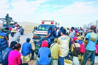 Farmworkers freed yesterday in Coahuila.