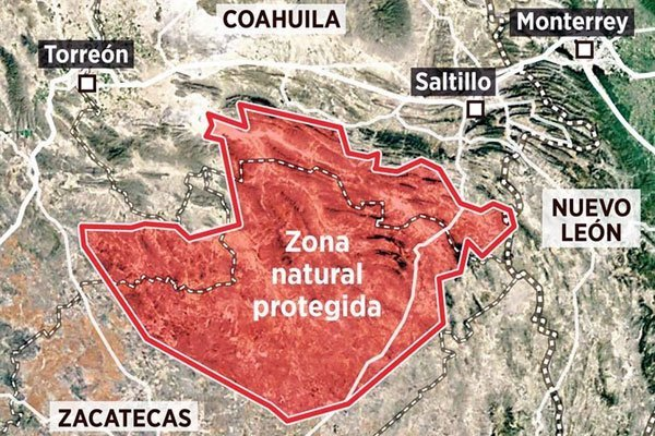 The protected area which has been rejected by the state.