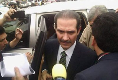 Padrés arrives at court this morning.