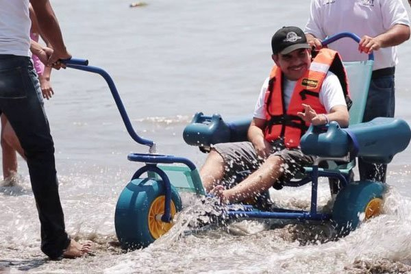 Disabled people can enjoy the beach at Cuastecomates.