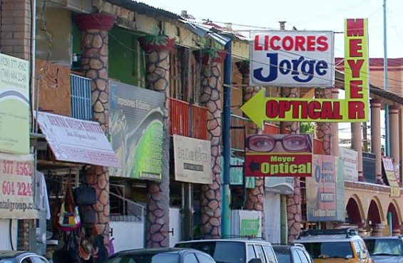 Eye doctors and dentists dominate a block in Los Algodones.