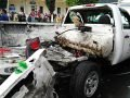The truck in which the explosion occurred.