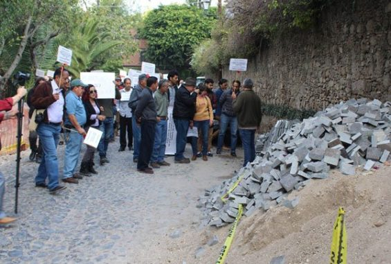 Yesterday's protest in San Miguel