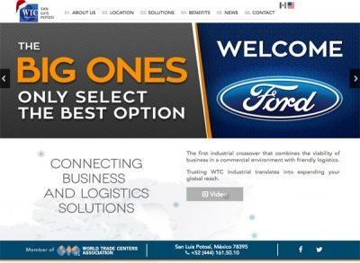 The website of the industrial park in San Luis Potosí continued to welcome Ford today.