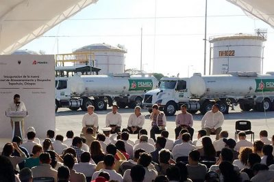 Yesterday's inauguration of the new Pemex terminal.