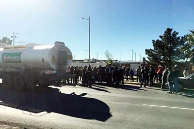 Protesters have blocked a Pemex terminal in Chihuahua for two days.