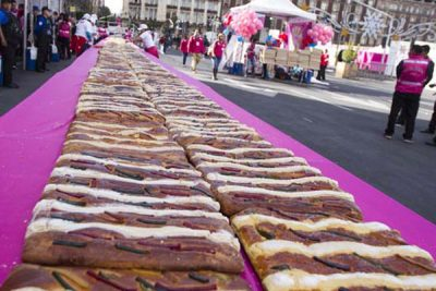 Mexico City's 1,500-meter-long mega-rosca.
