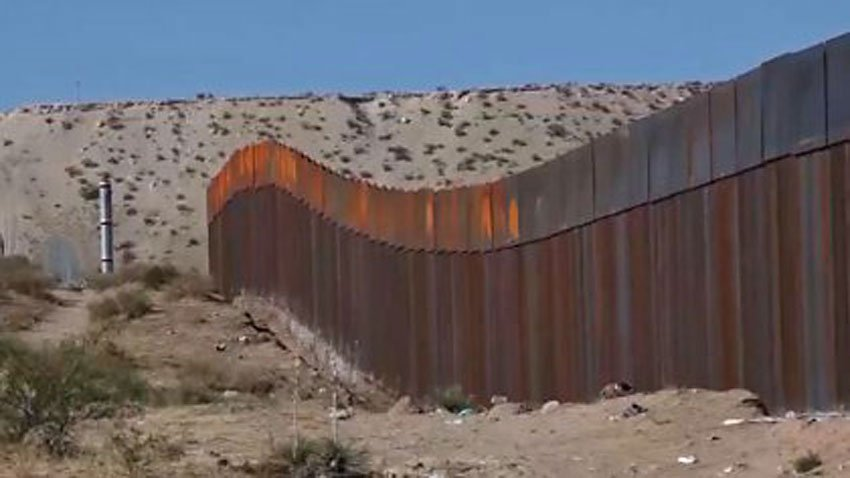 An existing section of wall on the U.S. border.
