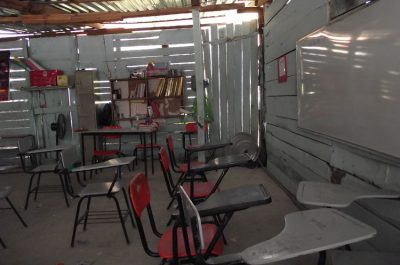 A classroom at the Chilpancingo school.