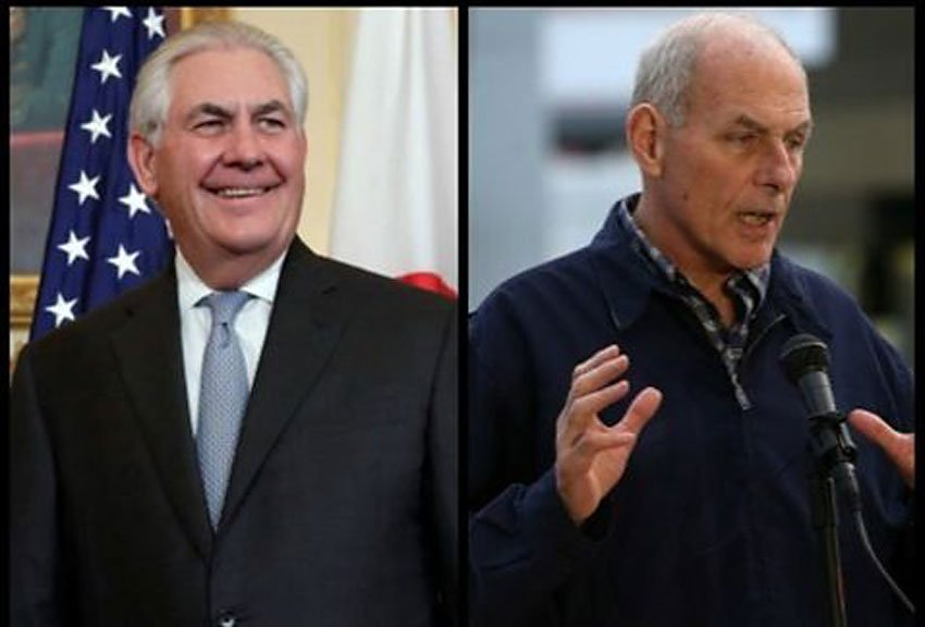 Tillerson and Kelly: not welcome, say PRD Senators.