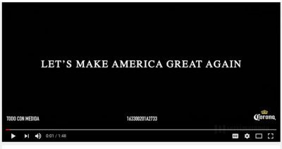 Corona's commercial: America is more than the USA.