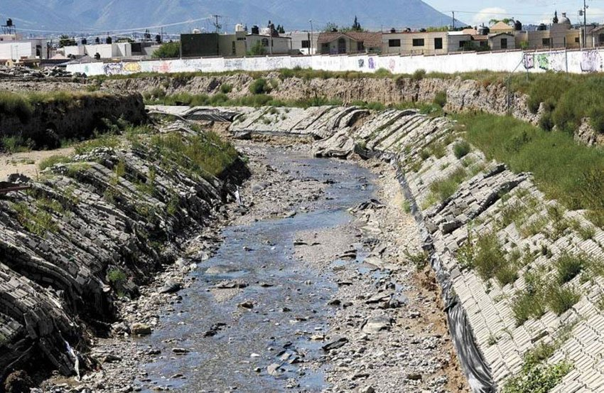Saltillo creek project and concrete damaged during heavy rains.