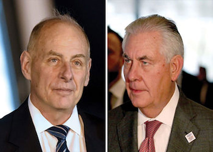 Kelly and Tillerson: damage control.