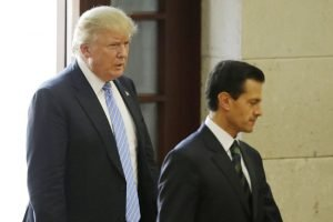Trump and Peña Nieto during the former's controversial August 2016 visit to Mexico.