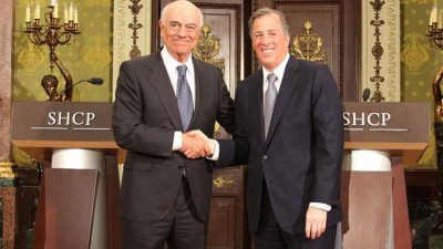 González and Meade yesterday in Mexico City.